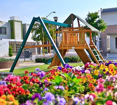 Casas en Saltillo, Coahuila. Real Ankara Residencial. Área de juegos.